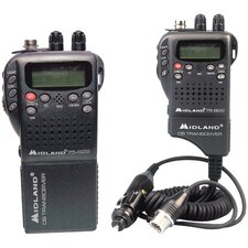Handheld 40-Channel CB Radio with Weather Monitor and Mobile Adapter