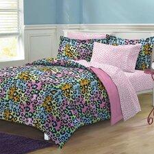 Neon Leopard Bed Set