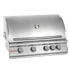"32"" 4-Burner Built-In Gas Grill with Rear Infrared Burner"