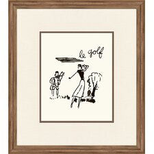 Le Golf Framed Painting Print