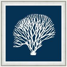 Navy Coral IV Framed Graphic Art