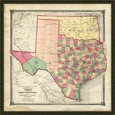 Texas Framed Graphic Art