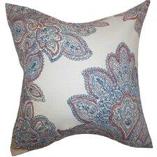 Haldis Floral Linen Throw Pillow