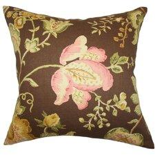 Kelila Floral Linen Throw Pillow