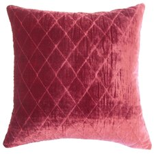 Large Diamond Velvet Throw Pillow