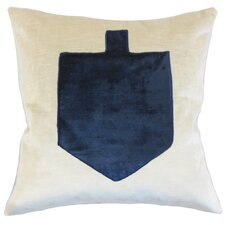 Hanukah Dreidel Velvet Throw Pillow