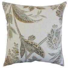 Taja Floral Linen Throw Pillow