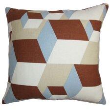 Fan Geometric Linen Throw Pillow Cover