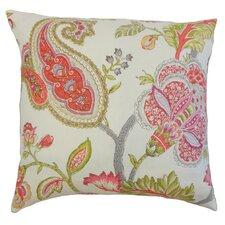 Janne Floral Linen Throw Pillow