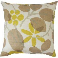 Gambhiri Floral Linen Throw Pillow
