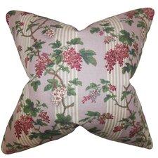 Gehry Floral Linen Throw Pillow