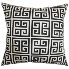 Paros Greek Key Cotton Throw Pillow