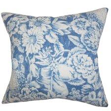 Elspeth Floral Linen Throw Pillow