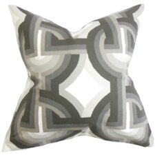 Rineke Geometric Cotton Throw Pillow