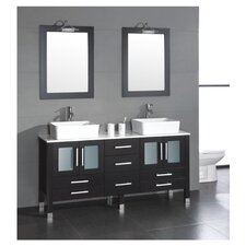 "Grand Aspen 71"" Double Bathroom Vanity Set"