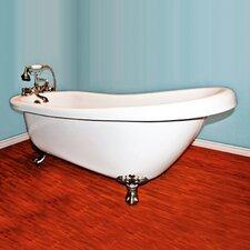 """68.25"""" x 31"""" Claw Foot Slipper  Bathtub"""
