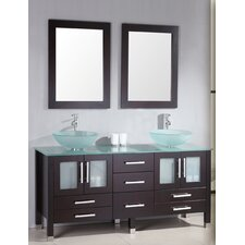 "Grand Emerald 71"" Double Bathroom Vanity Set"