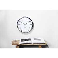 "One35 13.78"" Stainless Steel Wall Clock"