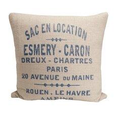 Hampton Classic French Words Cotton Throw Pillow