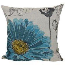 Flower Emboridery Throw Pillow