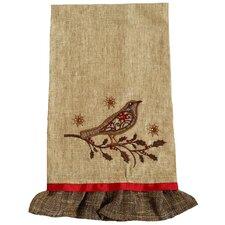 Bird on Twig Emboridery Tea Towel