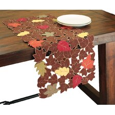 Forest Blanket with Poly-Suede Cutwork Table Runner
