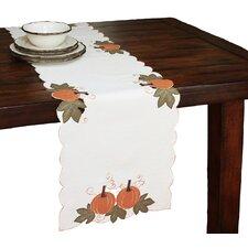 Pumpkin Patch Embroidered Cutwork Linens Table Runner