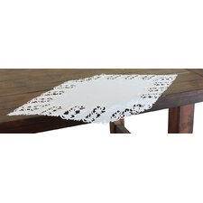 Laurel Embroidered Cutwork Table Runner