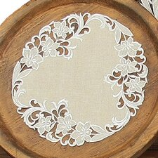 Meadow Embroidered Cutwork Round Doily (Set of 4)