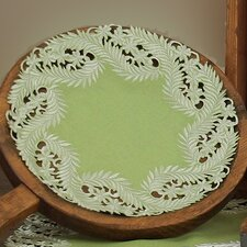 Laurel Embroidered Cutwork Round Doily (Set of 4)