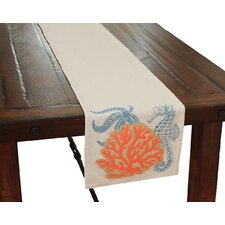 Costal Applique Sea life and Coral Table Runner