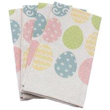 Bunny Eggs Printed Easter Towel (Set of 4)