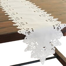 Victorian Lace Embroidered Cutwork Table Runner
