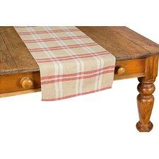 Check Linen Table Runner
