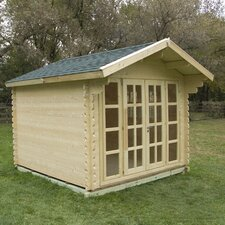 Brighton 10 Ft. W x 10 Ft. D Solid Wood Garden Shed