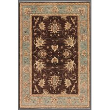 Ferehan Brown/Blue Traditional Area Rug