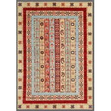 Ferehan Hand-Knotted Multi-colored Area Rug