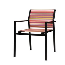 Stripe Stacking Dining Arm Chair