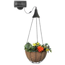 Hanging Solar Outdoor LED Spotlight with Planter Basket