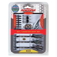 Arachnid 25 Piece Professional 90% Tungsten Dart Set in SideRider™ Case