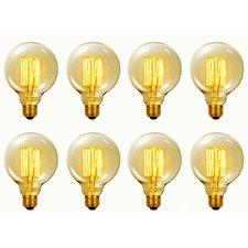 Vintage Edison 60 Watt (2700K) G40 Vanity Tungsten Incandescent Filament Light Bulb