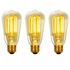 Vintage Edison 40 Watt (2700K) S60 Squirrel Cage Incandescent Filament Light Bulb