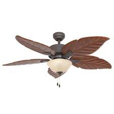"""52"""" St. Marks Bowl Light 5 Blade Ceiling Fan"""