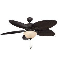"52"" Palmira Bowl Light 5 Blade Ceiling Fan"
