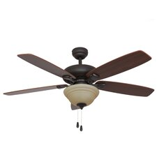 "52"" Rialto Bowl Light 5 Blade Ceiling Fan"