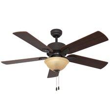 """52"""" Batson Bowl Light 5 Blade Ceiling Fan"""