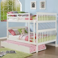 Mission Full Over Full Bunk Bed with Roll out Twin Trundle