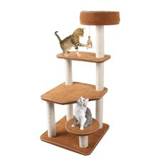 "45"" Cat-Life 5 Level Staircase Lounger Activity Center Cat Tree"
