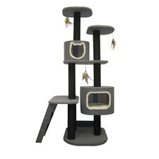 "68"" Cat-Life 2 Post Vertical Tower Cat Tree"