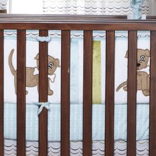 Puppy Pal Boy Crib Bumper/Rail Cover
